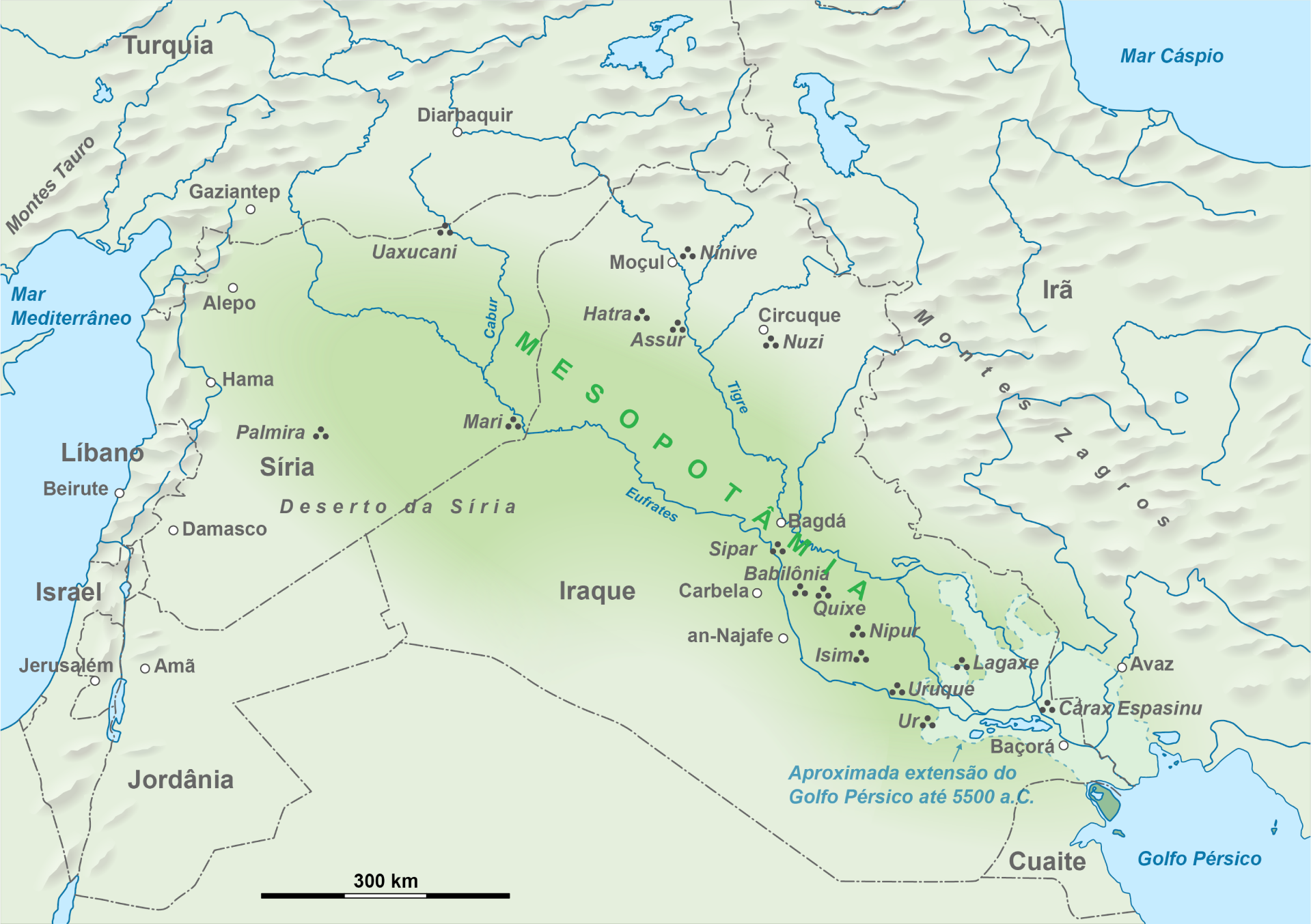 Карта Древнего Шумера.