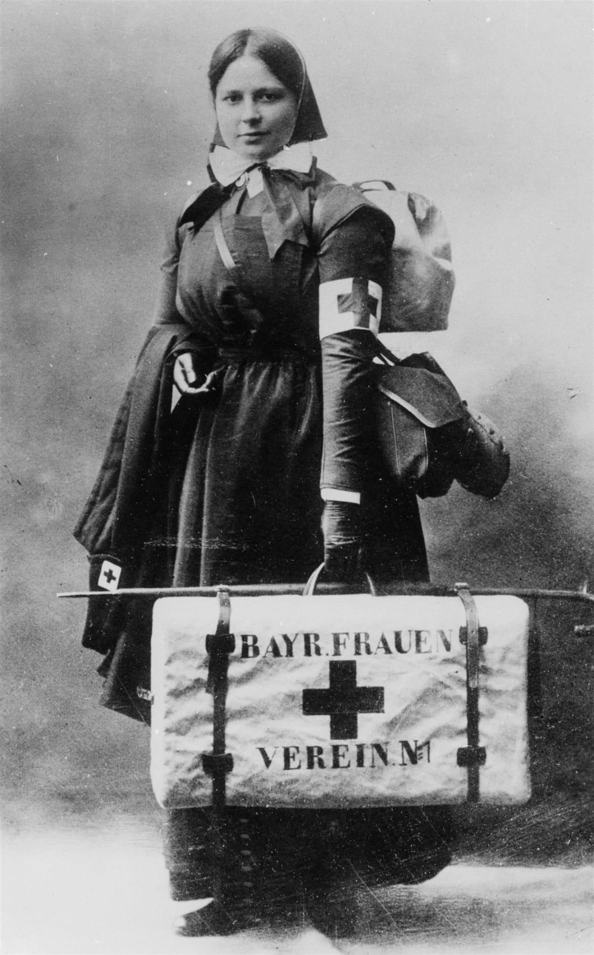 Сестра милосердия Немецкого Красного Креста.  Источник: МККК
