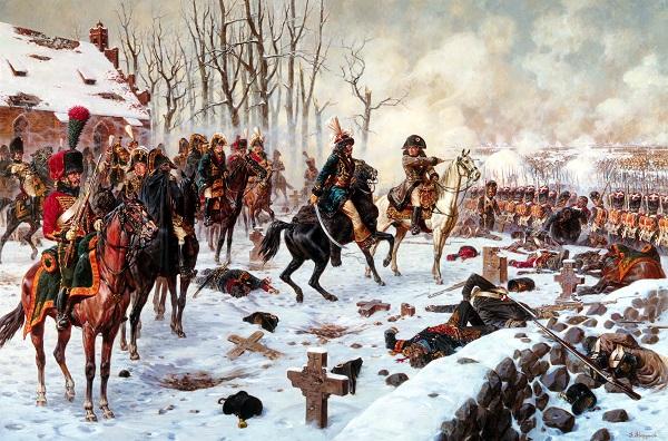 Наполеон и Мюрат при Эйлау.