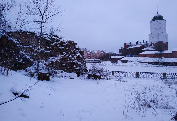 В Выборге обрушилась часть стены Аннинских укреплений