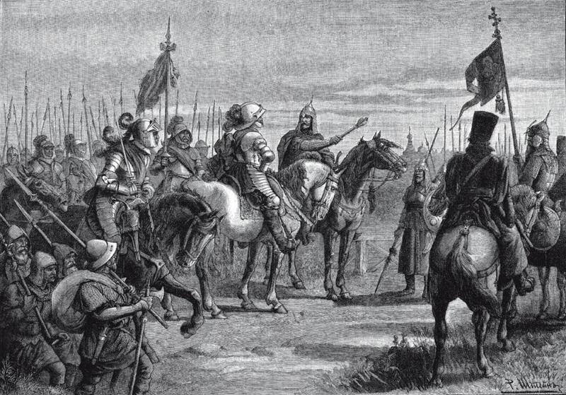 Встреча Скопина и Делагарди уНовгорода в1609 году.