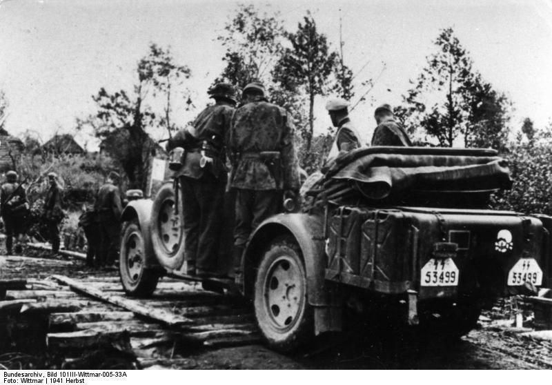 Дивизия «Мертвая голова» продвигается вперед, 1941.