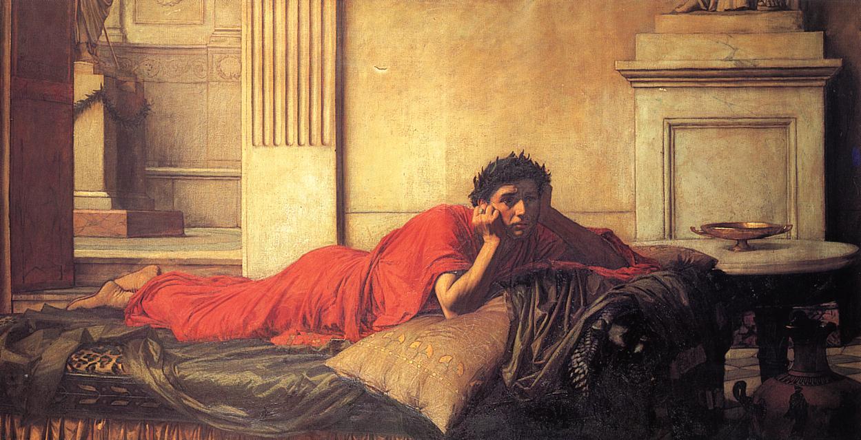 Джон Уотерхаус. Раскаяние императора Нерона.
