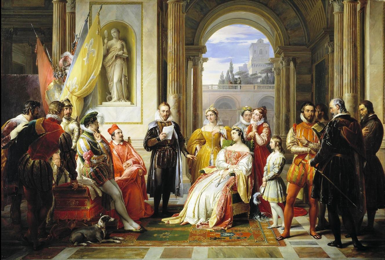 Франческо Подести. Торквато Тассо читает своё стихотворение при Феррарском дворе, ок. 1831.