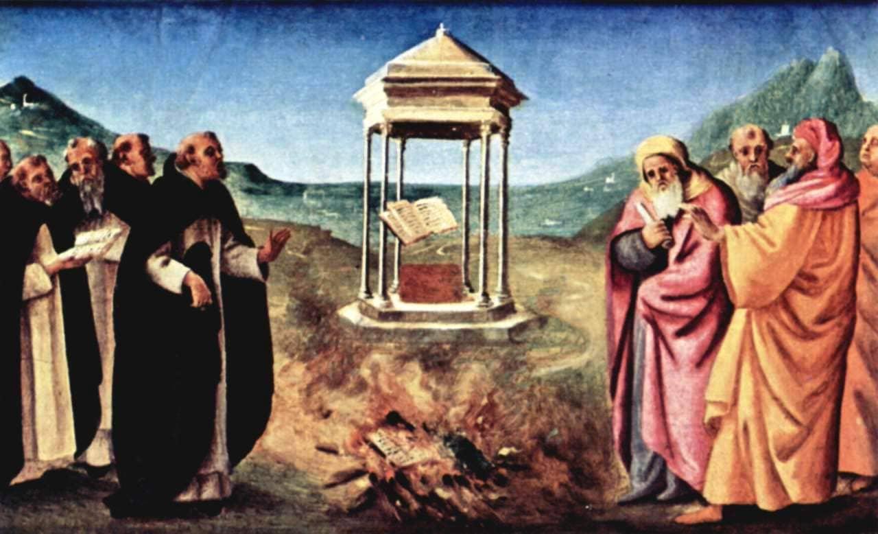 Пьеро ди Козимо. Сожжение альбигойских книг, 1485−1490 гг.