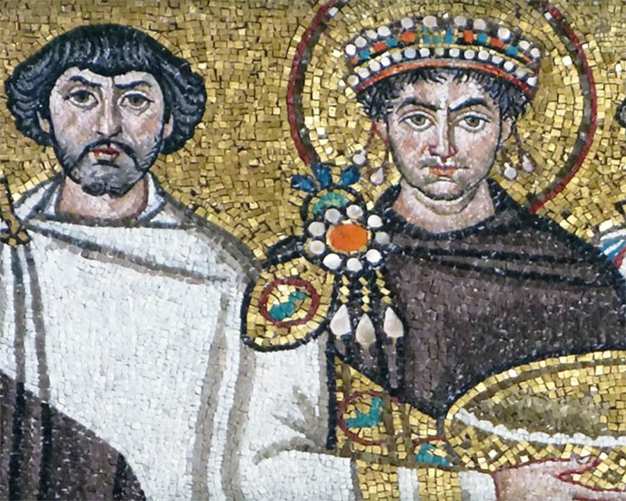 Юстиниан и Велизарий.