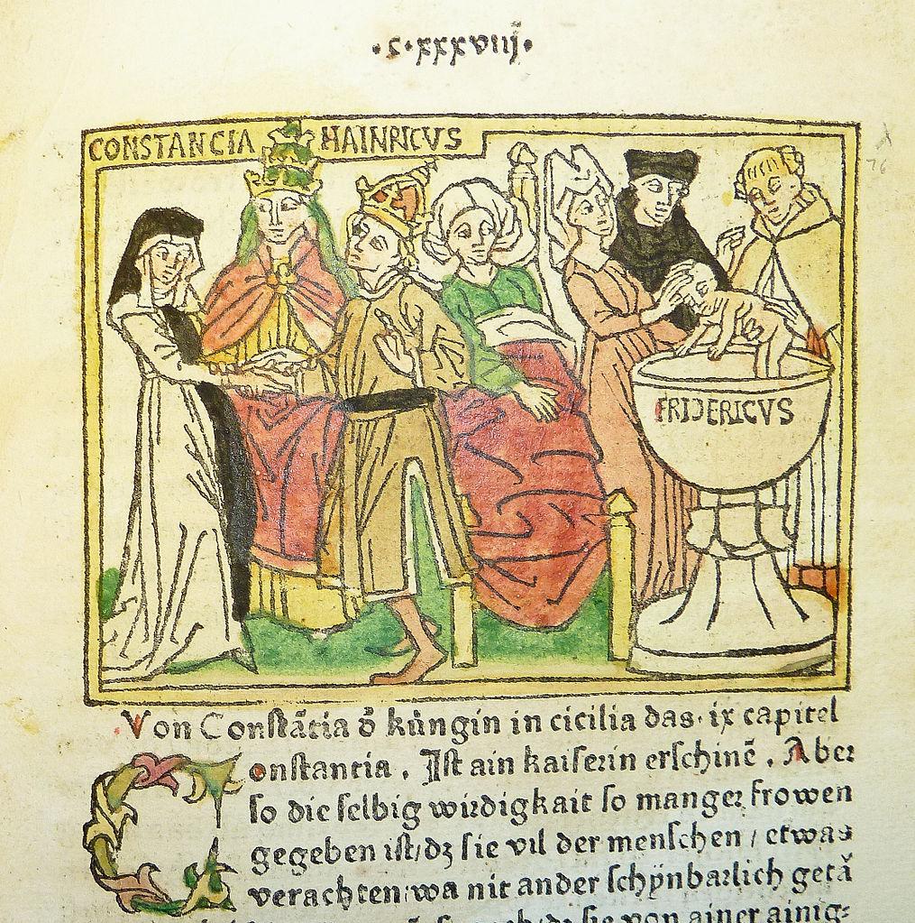 Генрих, его жена Констанция и сын Фридрих.