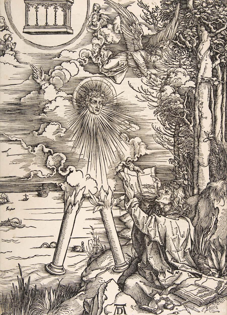 Альбрехт Дюрер. Иоанн Богослов съедает книгу, 1498.