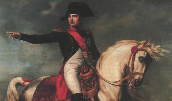 Наполеон Бонапарт в мундире гвардейских конных егерей. <br>