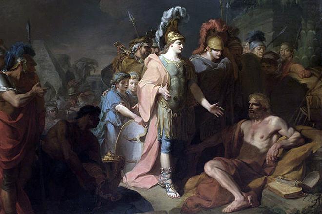Александр и Диоген.