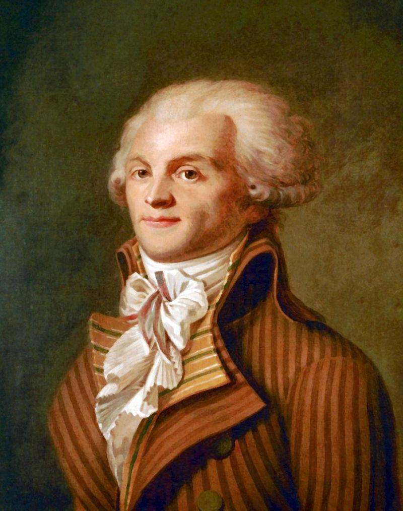 Максимилиан Робеспьер, один из вождей якобинцев. <br>