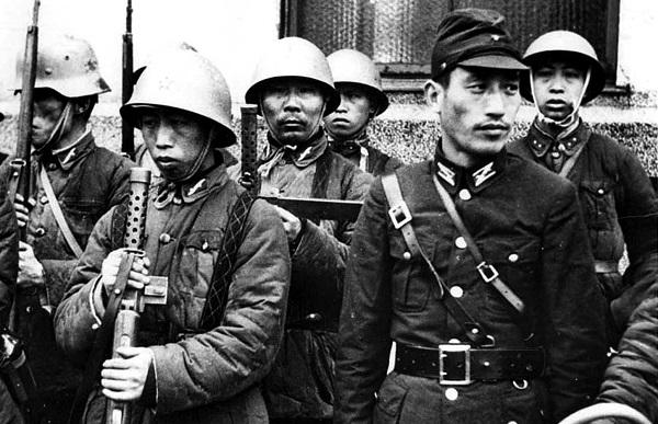 Бойцы коллаборационистской китайской армии.