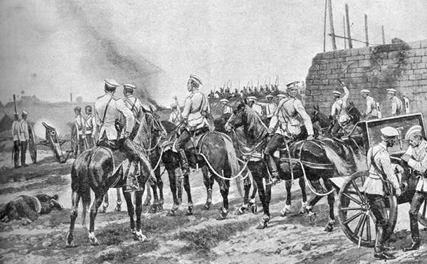 Русские войска вблизи Тяньцзиня.