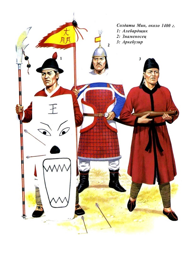 Воины армии династии Мин.