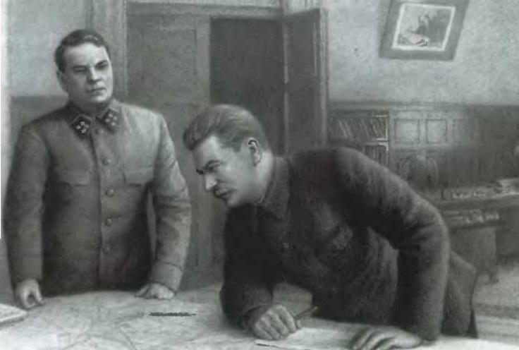 Александр Василевский и Иосиф Сталин