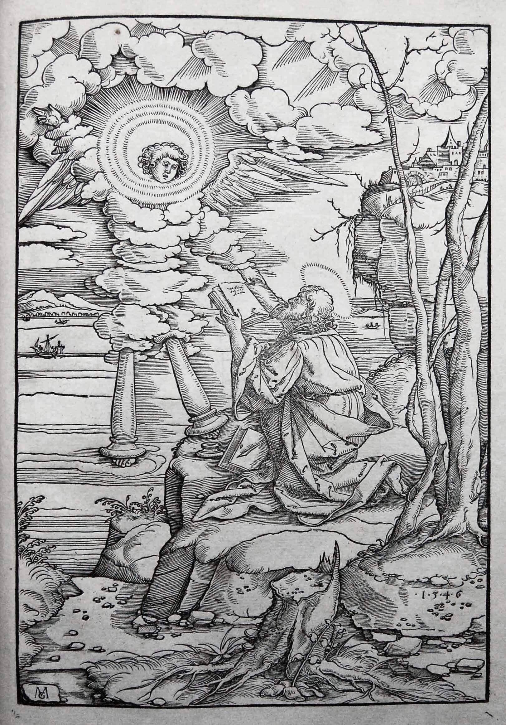 Маттиас Герунг. Святой Иоанн поглощает книгу, ок. 1544.