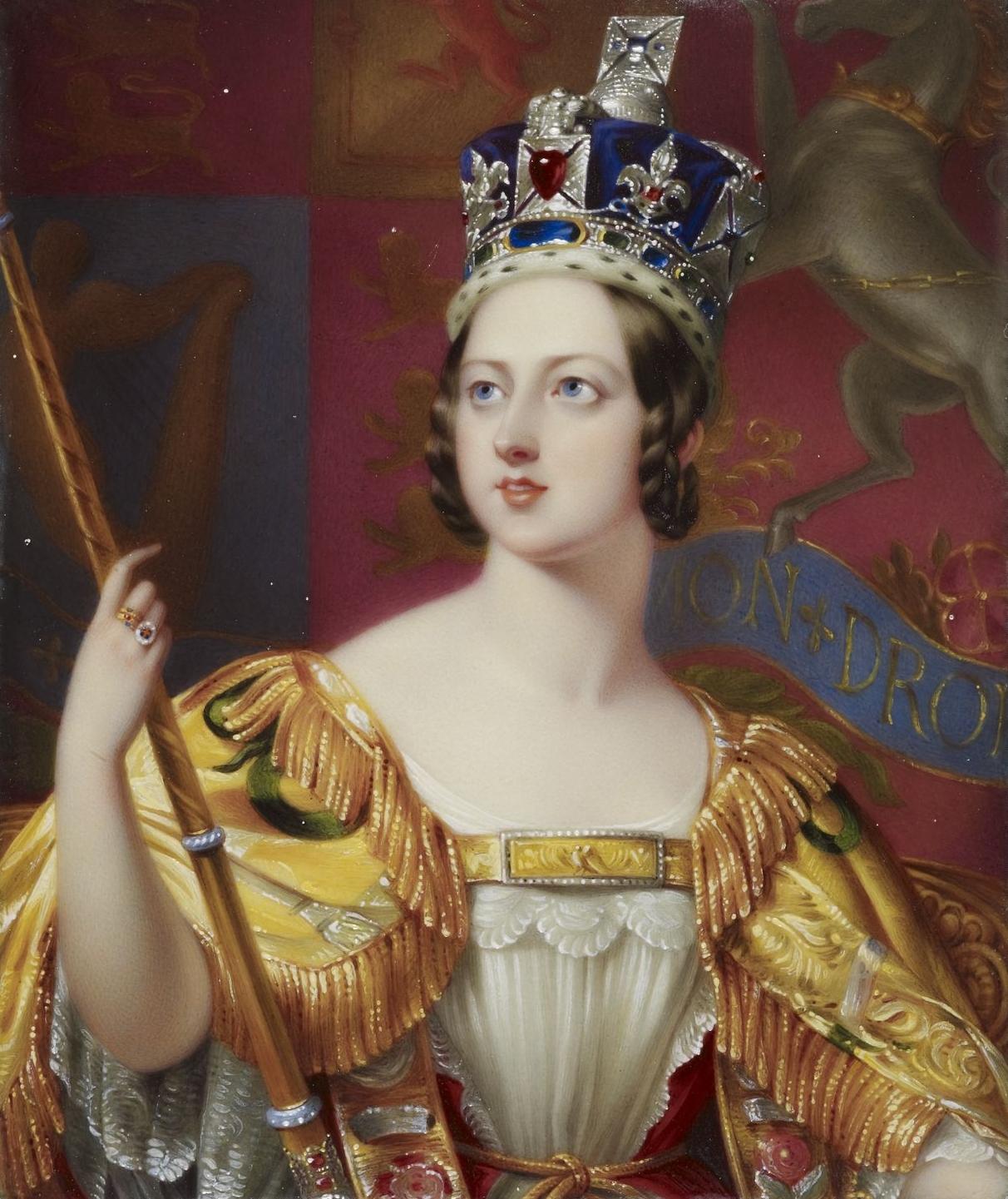 Коронационный портрет королевы Виктории. <br>