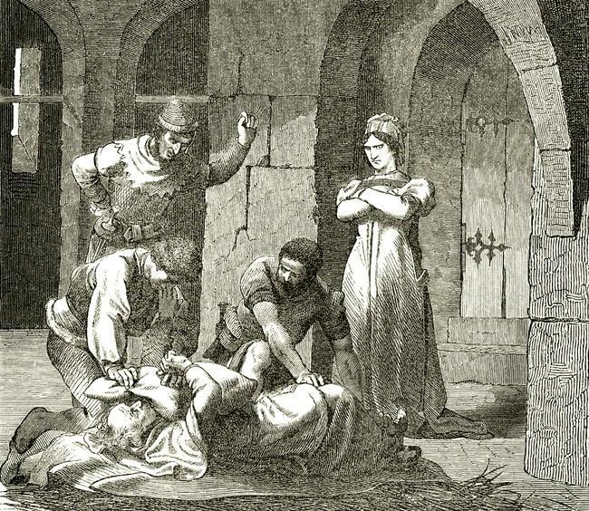 Марозия и еемуж приказывают убить Иоанна X. XVII век.