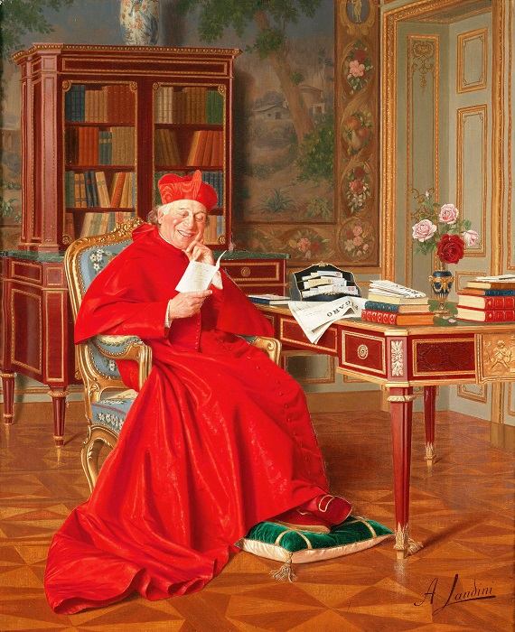 Андреа Ландини. Занимательное чтение, ок. 1935.