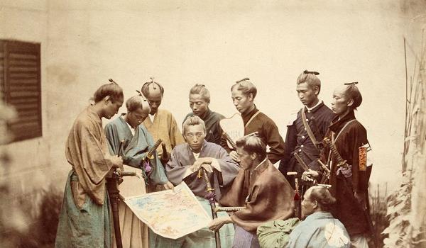 Сацумские самураи во время войны Босин.