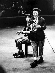 Никулин и Шуйдин на арене цирка