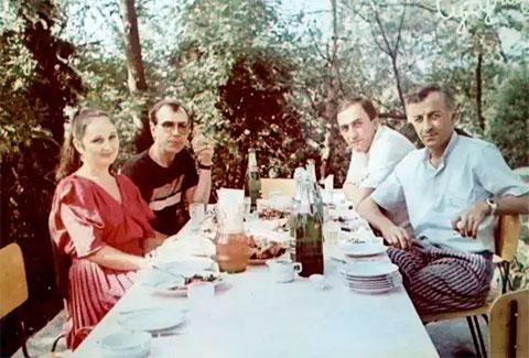 Захаров с супругой Розой. <br>