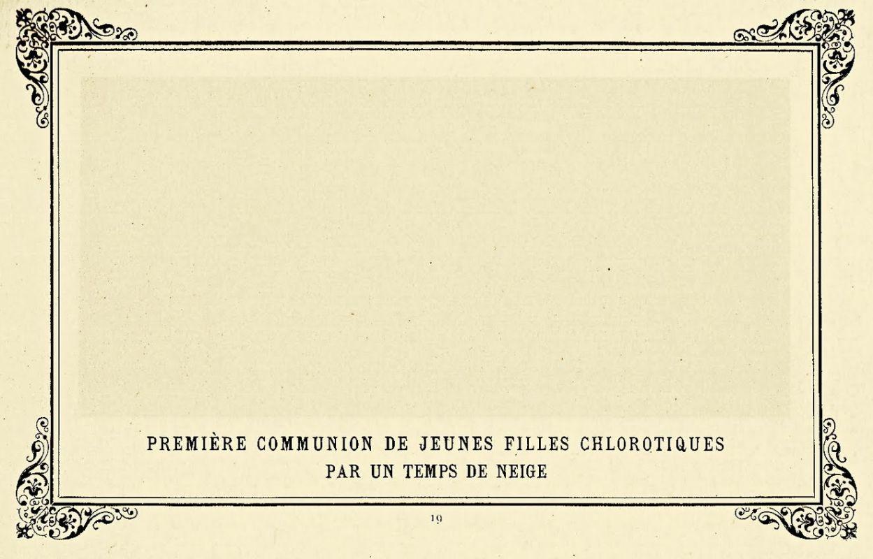«Первое причастие страдающих анемией девушек в снежную пору», 1883.