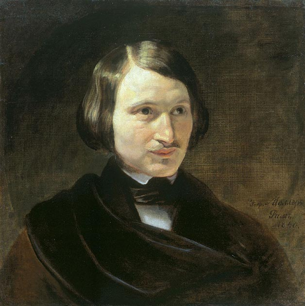 Портрет Н.В. Гоголя работы Ф.А. Моллера, 1840 год.jpg