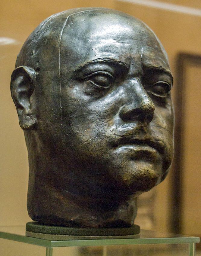 Бюст по посмертной маске Петра, снятой К.&nbsp;Б. Растрелли. <br>