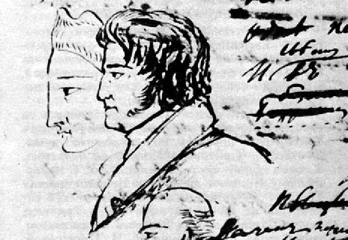 Фёдор Толстой, рисунок Пушкина.