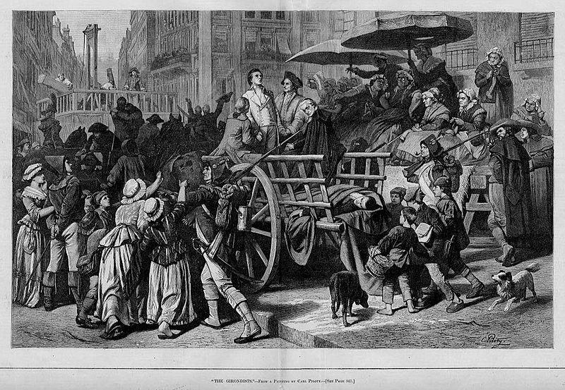 Перекличка последних жертв террора, отправляемых на казнь втюрьмесв. Лазаря. Карл Мюллер, 1850 год.