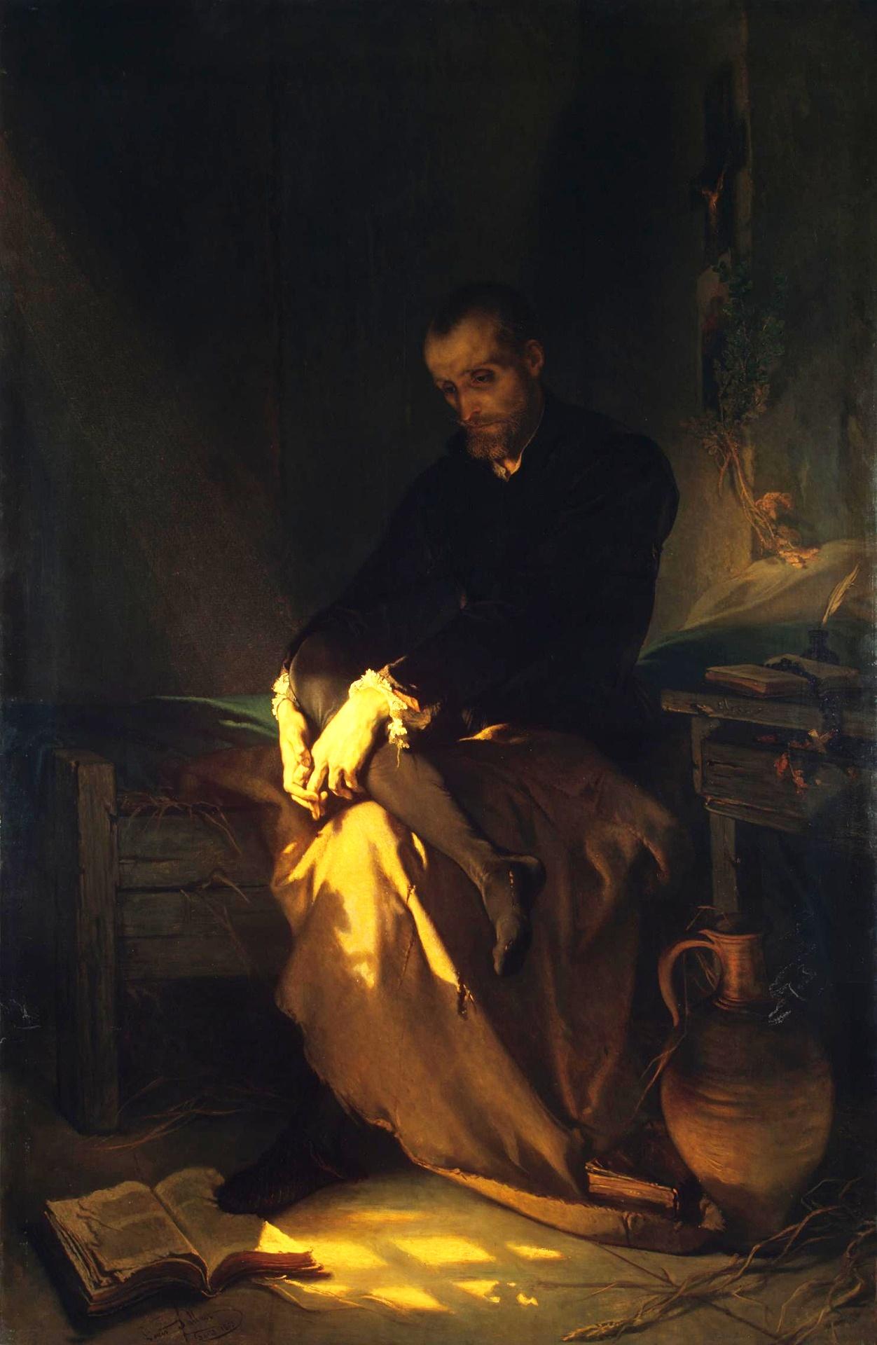 Луи Галле. Тассо в темнице, 1853.