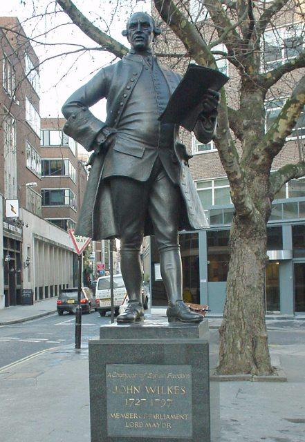 Статуя Джона Уилкса в Лондоне. <br>