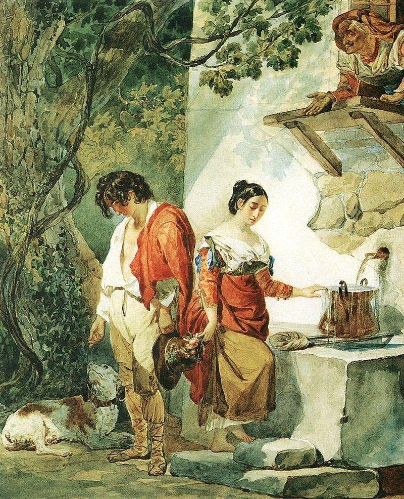 ФОТО Прерванное свидание (Вода уж чрез край бежит). 1827.jpg