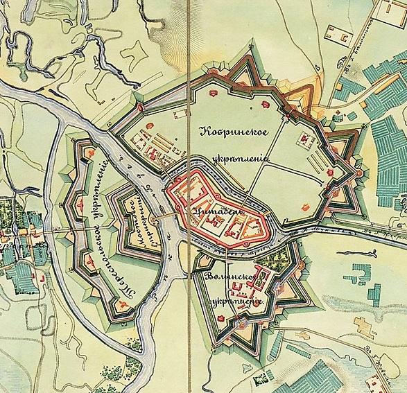 План Брестской крепости. <br>