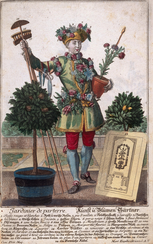 Мартин Энгельбрехт «Костюм садовника».