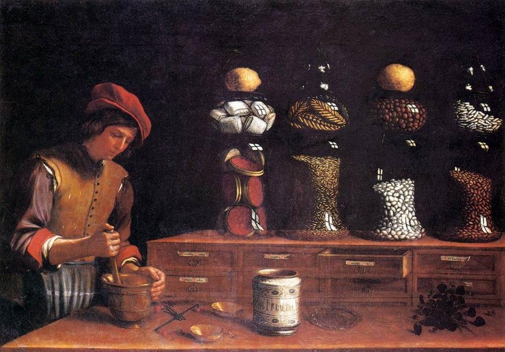 Лавка пряностей [худ. П. Барбьери, 1637].