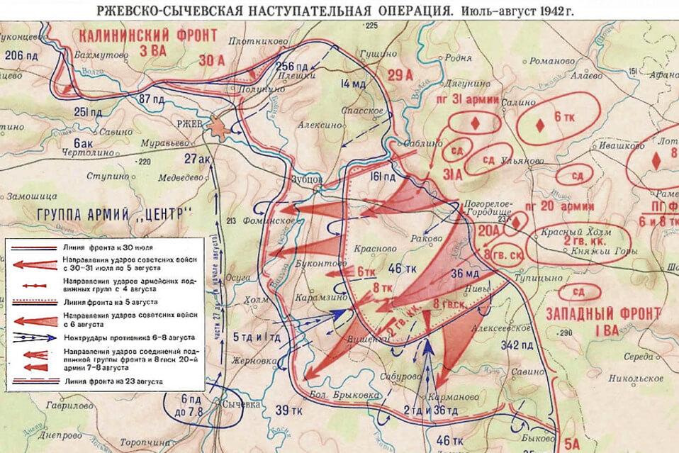 Первая Ржевско-Сычевская операция.
