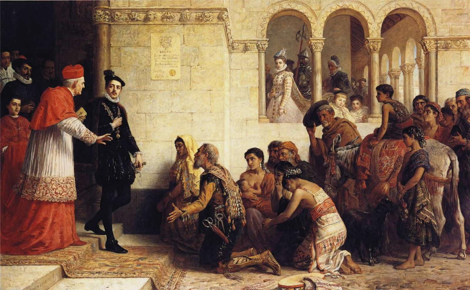 «Испанские цыгане, умоляющие Филиппа III отменить закон об изгнании», Эдвин Лонг, 1872 год.