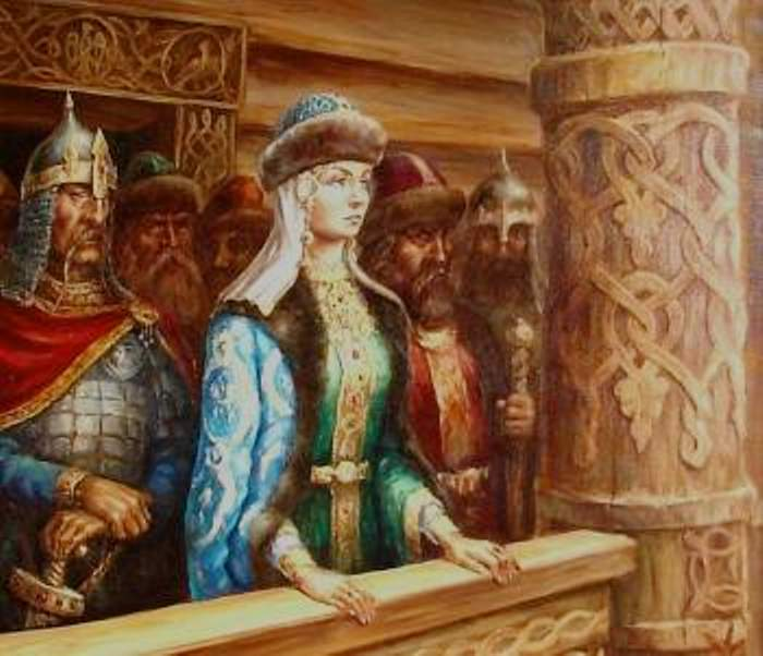 Интерпретация современного художника портрета княгини Ольги.
