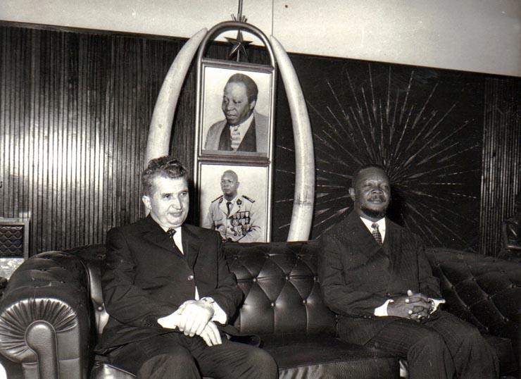 На встрече сНиколае Чаушеску, 1972.