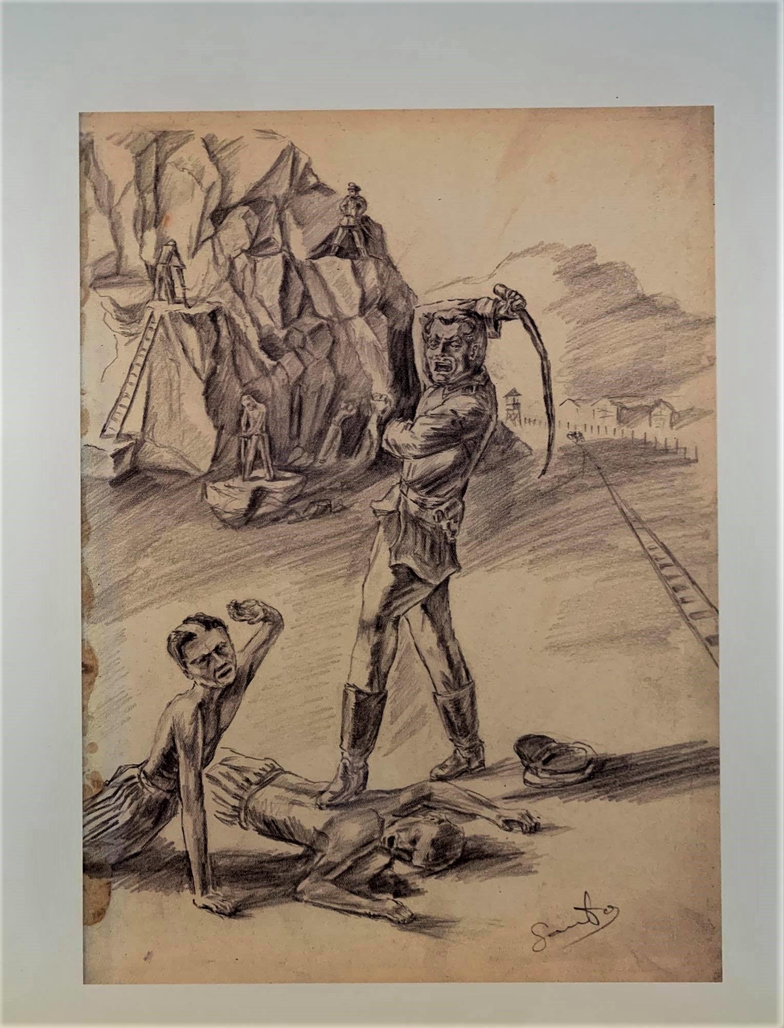 Рисунок бывшего заключенного.