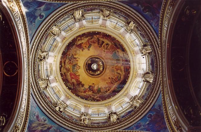Фрески Брюллова в Исаакиевском соборе.