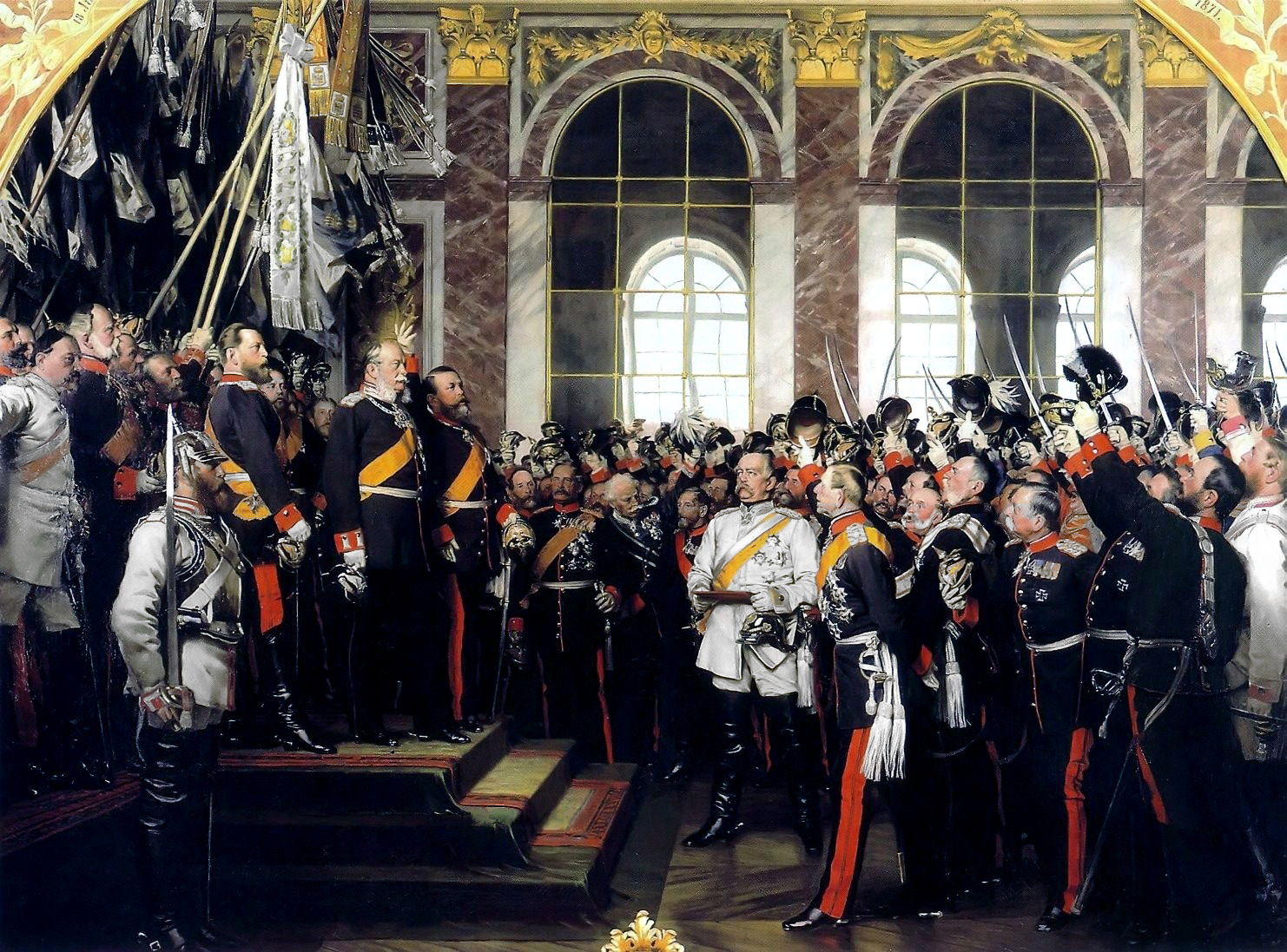 """unifying germany On this day in 1871 germany became a nation for the first time in history after a nationalistic war against france masterminded by the """"iron chancellor"""" otto von bismarck."""