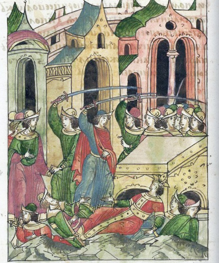 Борьба за власть вОрде. Древнерусская миниатюра, XVI век.