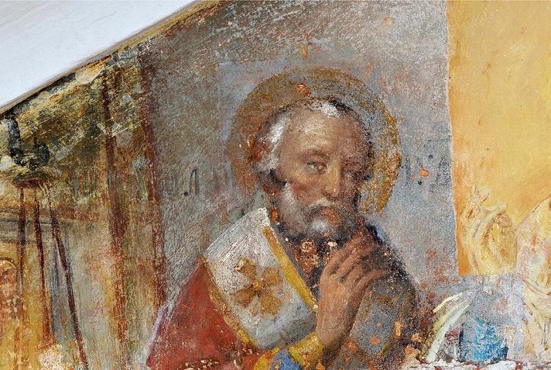 В Брюсовом переулке отреставрировали храмовую живопись