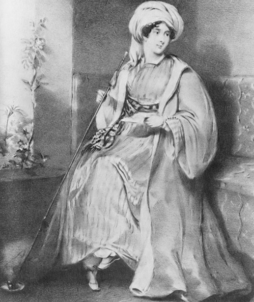 Леди Стэнхоуп, литография.  Источник: wikipedia.org
