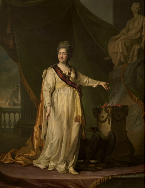 Парадный портрет Екатерины II.