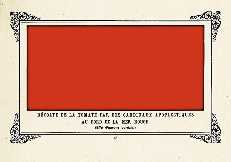 «Уборка урожая помидоров на берегу Красного моря апоплексическими кардиналам», 1884.