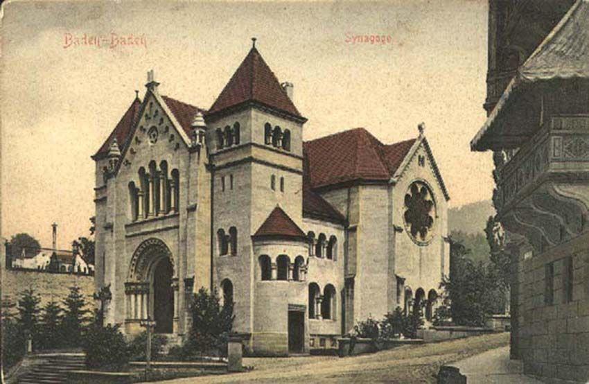 Баден-Баден на открытке 1900 года.